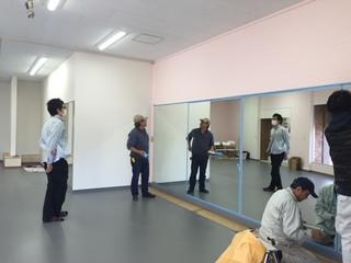 バレスタジオ鏡